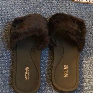 Michael Kors faux fur sandals